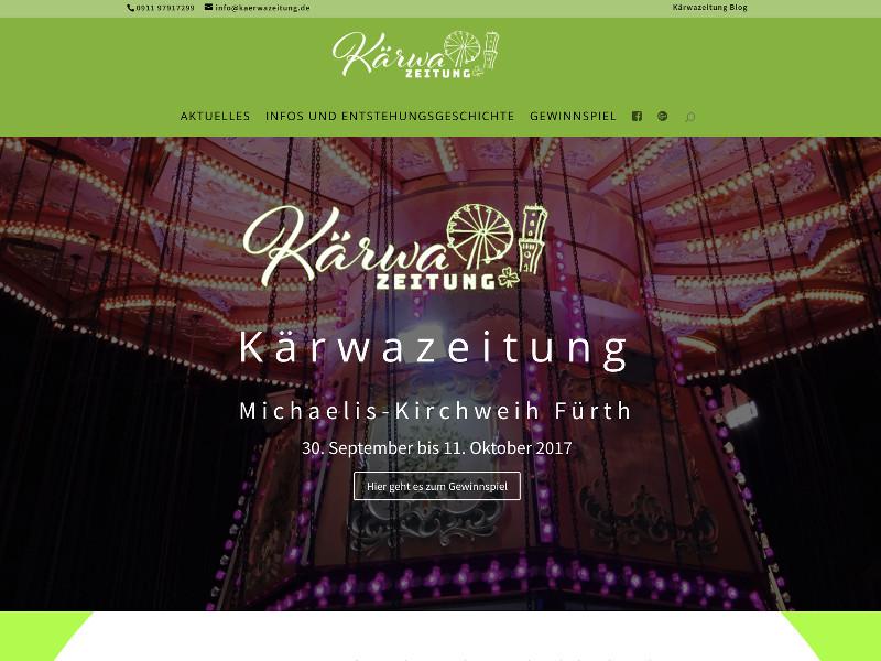 Kärwazeitung Screenshot