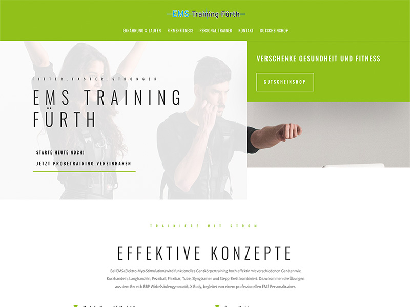 Screenshot EMS Fürth