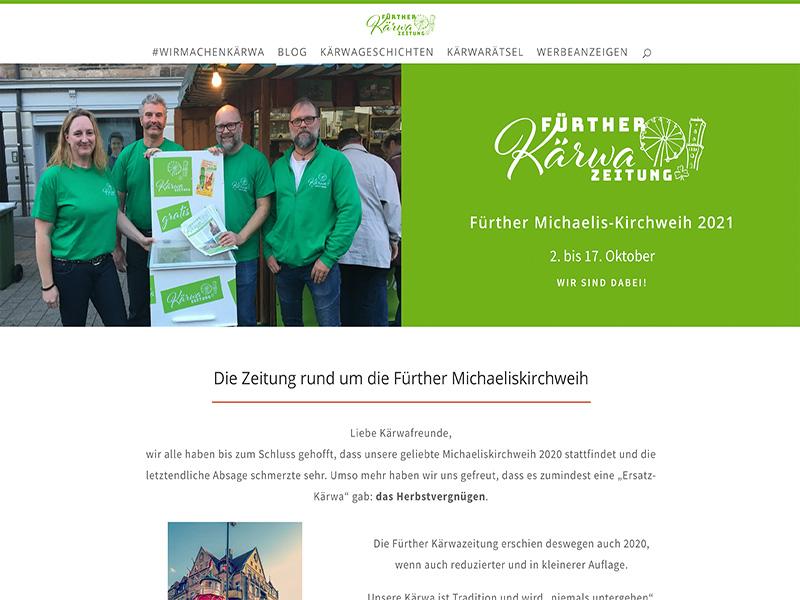 Screenshot Kärwazeitung